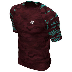 Compressport Training T-shirt manches courtes Camo Neon 2020 Homme, camo burgundy